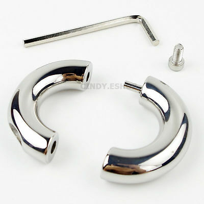 NEW Male Stainless Steel Ball Restraint Ring Stretching Weight Enhancer LOCK