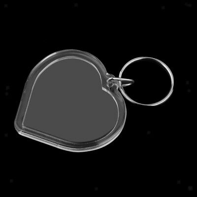 10pcs Heart Blank Insert Photo Picture Frame Key Ring Keychain Keyring DIY