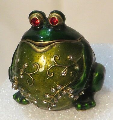 Adorable Toad / Frog with Round Belly - Enameled Small Box