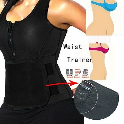 Neoprene Sauna Suit - Sauna Tank Top Vest with Adjustable Shaper Trainer Belt US