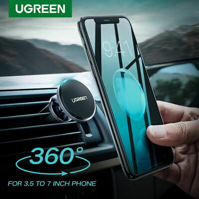 Ugreen 360° Car Magnetic Air Vent Mount Cradle Holder Stand for iPhone Samsung