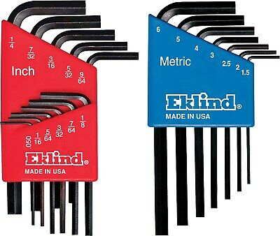 Eklind 10518 Short Series Hex-L® Key Set Combo Pack 18 Count,No 10518, 3PK