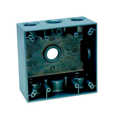 """Outlet Box 2G 5H1/2""""Gry By Sigma Mfrpartno 14351-5"""