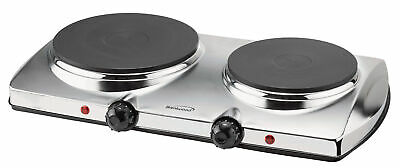 "Brentwood Ts-372 18.5"" X 11"" X 3.75"" Chrome Double Electric Hot Plate"