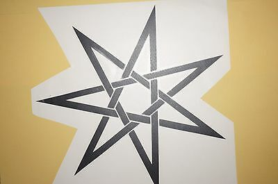Elven star pentacle Pagan Wicca Wall Art Vinyl Sticker new age decal Faerie