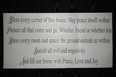 Home Blessing Sticker Spell new age decal Pagan Wicca Wall Yoga removable witch
