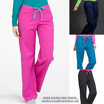New Med Couture Signature Pants #8705 Nursing Uniform Scrubs Women Xs-Xl