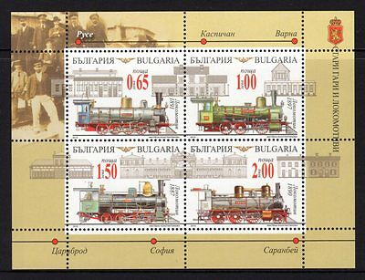 Bulgaria 2015 Trains Sheetlet 4 MNH