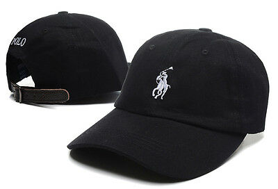 Embroidery Polo Style Pony Hat Cap Leather Strap Adjustable Vintage Golf Nice