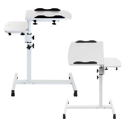 White Adjustable Portable Laptop Table Stand Lap Tray Computer Desk For Sofa Bed