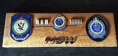 NSW Police Force Retired Presentation on Rustic Timber