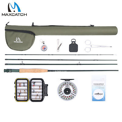 Freshwater Fly Fishing Rod Reel Combo 5WT 9'-4Sec Pre-loaded Reel Line Box Flies