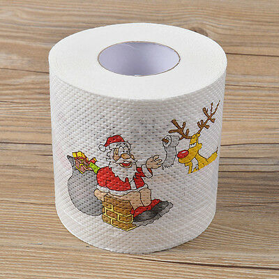 1 Roll Merry Christmas Santa Claus Toilet Paper Table Living Room Decoration