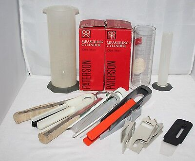 Job Lot of Darkroom Processing Equipment - Paterson - Tongs, Clips, Cylinders...