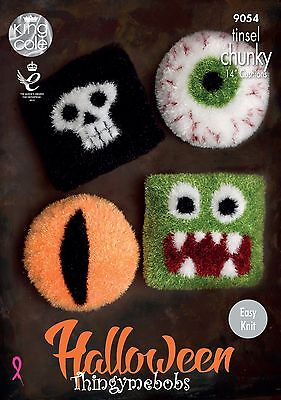 King Cole 9054 Halloween Cushions Original Tinsel Chunky Knitting Pattern