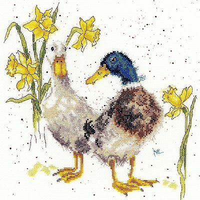 Bothy Threads Daffs And Ducks Counted Cross Stitch Kit - New Xhd6