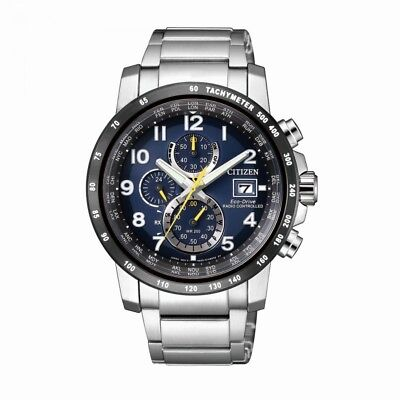 Citizen Herrenuhr Uhr Eco-Drive Funkuhr Funk Solar Chrono Saphirglas AT8124-91L