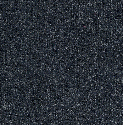 20 Fine Rib Stratos Blue Heavy Duty CARPET TILES For Commercial Use