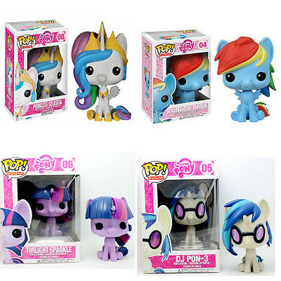 """10CM/4"""" Cute My Little Pony Funko Pop Action Figure Christmas Toy Xmas Gift Kids"""