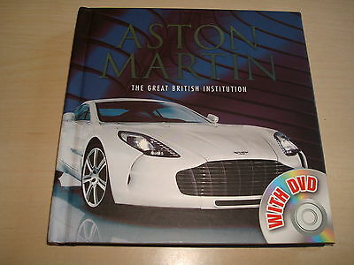ASTON MARTIN THE GREAT BRITISH INSTITUTION BOOK & DVD - DATED 2012 1st EDITION