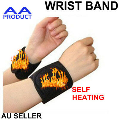 1 pair Self Heating Magnetic wrist band brace Strap pain relief support wrister