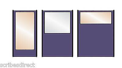 180cm (h) HALF VISION Office Partition Divider - Screen & Fabric Colour Choice