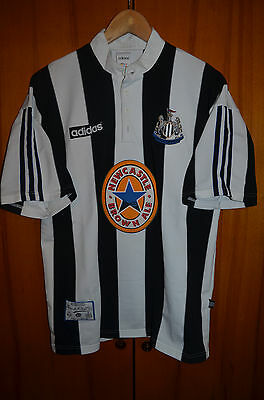 Newcastle United England 1995/1996/1997 Home Football Shirt Jersey Adidas