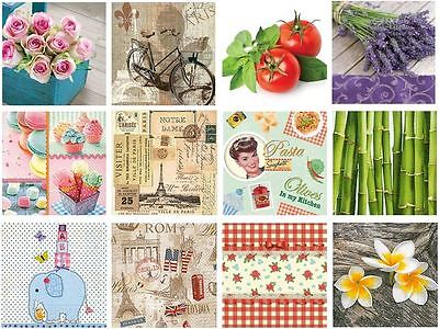 20 Pck Beautiful Vintage Decorative Paper Napkins Decoupage Craft Party Occasion