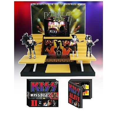 """Kiss Collectible 2015 Kiss Alive II Stage w/ 3.75"""" Action Figures Box Set #0811"""
