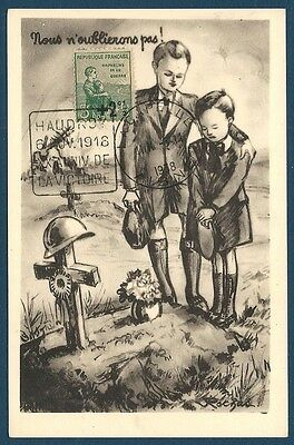 France - Carte Maximum - N°163 Orphelins De Guerre - Enfants - Ttbe