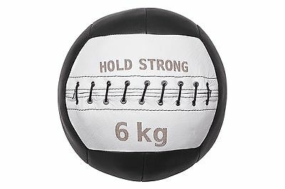 HOLD STRONG Medizinball 6 kg / Wall Ball für Cross Training aus Leder