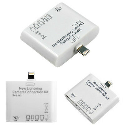 5 in 1 USB MS MMC TF SD Card Reader Adapter for iPad 4 Air Pro Mini 2/3/4 iPhone