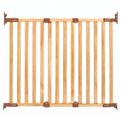 Kidco G2300 Angle Mounted Wood Safeway Baby Stairway Safety Gate- Oak