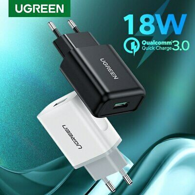 Ugreen Qualcomm Certified Quick Charge 3.0 18W Rapid USB Wall Charger Adapter EU