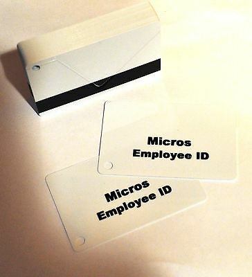 Micros Magnetic Swipe Employee ID Cards (50 Pack) FREE SHIPPING