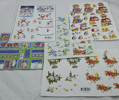 3D Decoupage Sheets Christmas Designs Step by Step A4