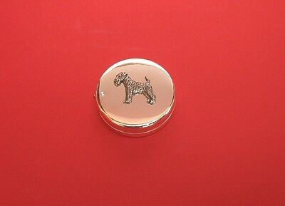 Airedale Terrier Dog Motif on Silver Plated Tape Measure Mother Christmas Gift