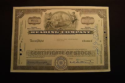 1968 Reading Company Stock Certificate SNO16104 Hayden Stone Incorporated