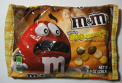 (100 gr = 2,73 €) M&M´s WHITE BOO-TTERSCOTCH im medium bag +++ 226,8 gr  +++