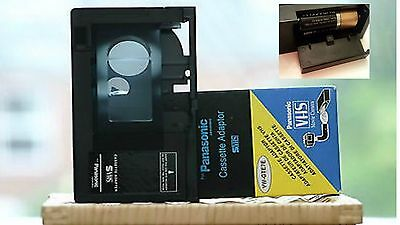 for PANASONIC-Cassette Adapter VHS-C-VW-GTE7E-BATTERY-OPERATED INCLUDED $25.99!!