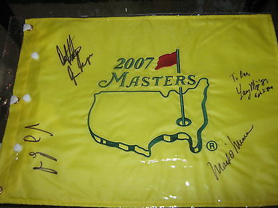 Autographed 2007 Masters Winners Pin Flag