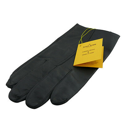 John Lobb Mens Black Gloves Twinstitch Calf Leather Brand New with Tags £315