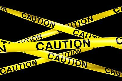 "Safety Tape 3"" X 25' Caution Tape Yellow Halloween Party Decorations"