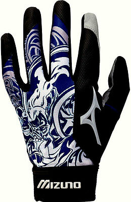 Mizuno Thunder 1-Pair Youth Batting Gloves Small Navy Blue - NEW