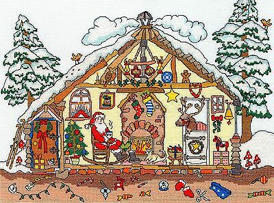 Bothy Threads Cut Thru Christmas Counted Cross Stitch Kit - New Xct32