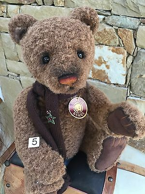 Aloysius Large Collectable Charlie Bears Fully Jointed 41 cm Plush Teddy Bear