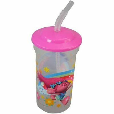 Trolls 16 oz. Sports Tumbler with lid and straw 55g