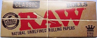2 Boxes of Raw Classic King Size  3 meter Rolls