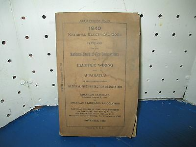 1940 National Electrical Code Book Electric Wiring Apparatus 360 pg Electrician