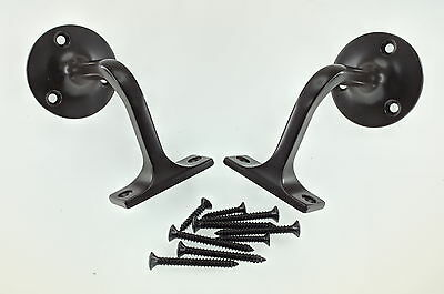 (Lot of 2) Wall Mounted Stair Handrail Design Metal Bracket with screws (New)
